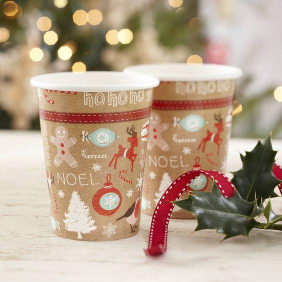 kubki do kawy papierowe z nadrukiem świątecznym