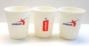kubki papierowe jako powierzchnia reklamowa