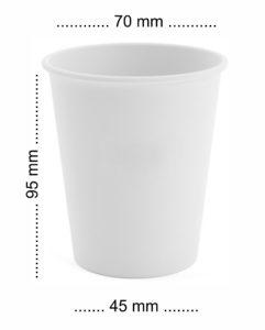 papierowe kubki 180 ml średnica 70mm