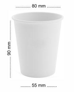 kubeczki papierowe 250 ml górna szerokość 80 mm