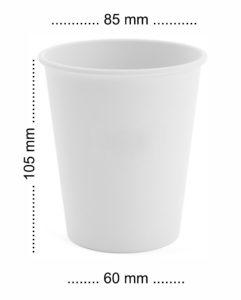 papierowe kubeczki 300 ml - kubeczki papierowe średnica 85 mm